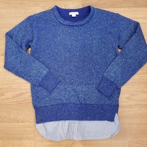 Crewcuts royal blue sparkle sweater with shirt